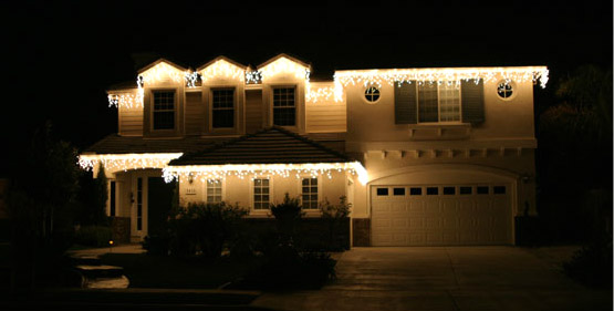 Home with Christmas Lights